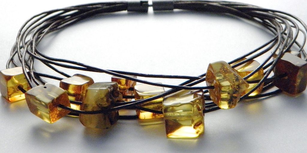 165 - Multi Leather Raw Amber Necklace