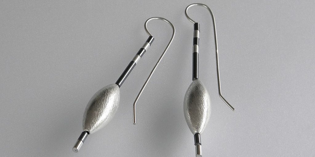 331 - Zebra Cone Earrings