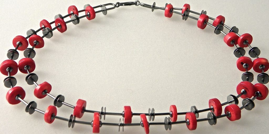 657 - Double Strand Coral Necklace