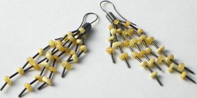 735 - Long Butterscotch Amber Earrings