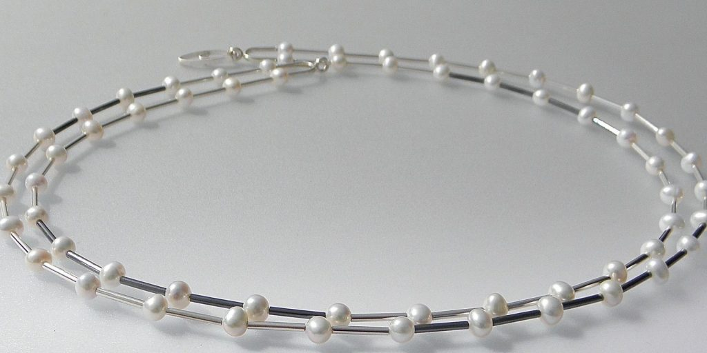 754 - Double Strand Pearl Necklace