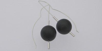 797 - Black Jade 15mm Earrings