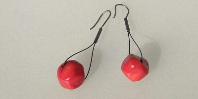 826 - Free Form Coral Earrings