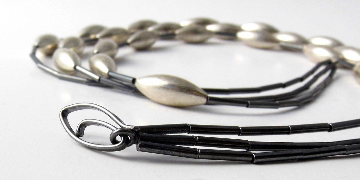 332 Triple Strand Cone Necklace