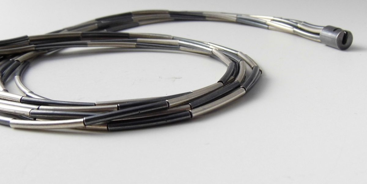 333 Interspersed Oxidized Necklace