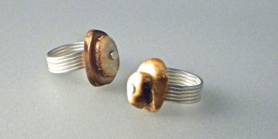 581 - Double Fossil Ring
