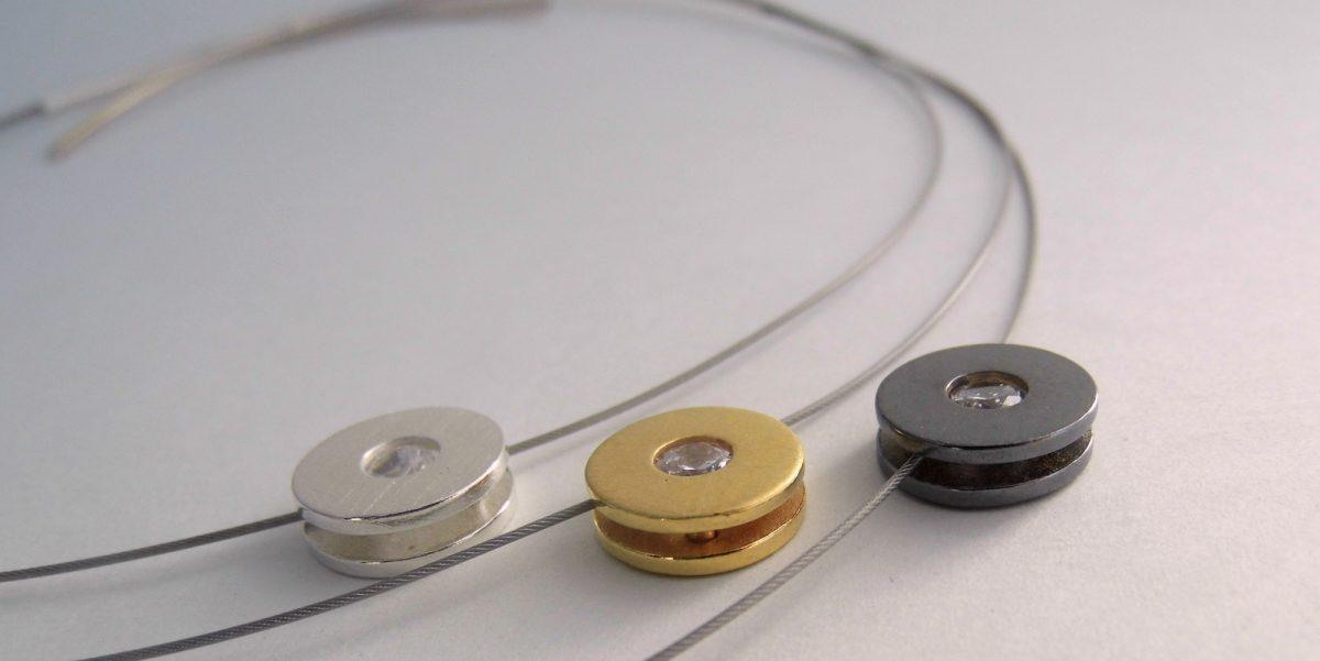 595 Triple CZ Cubic Zirconia Necklace