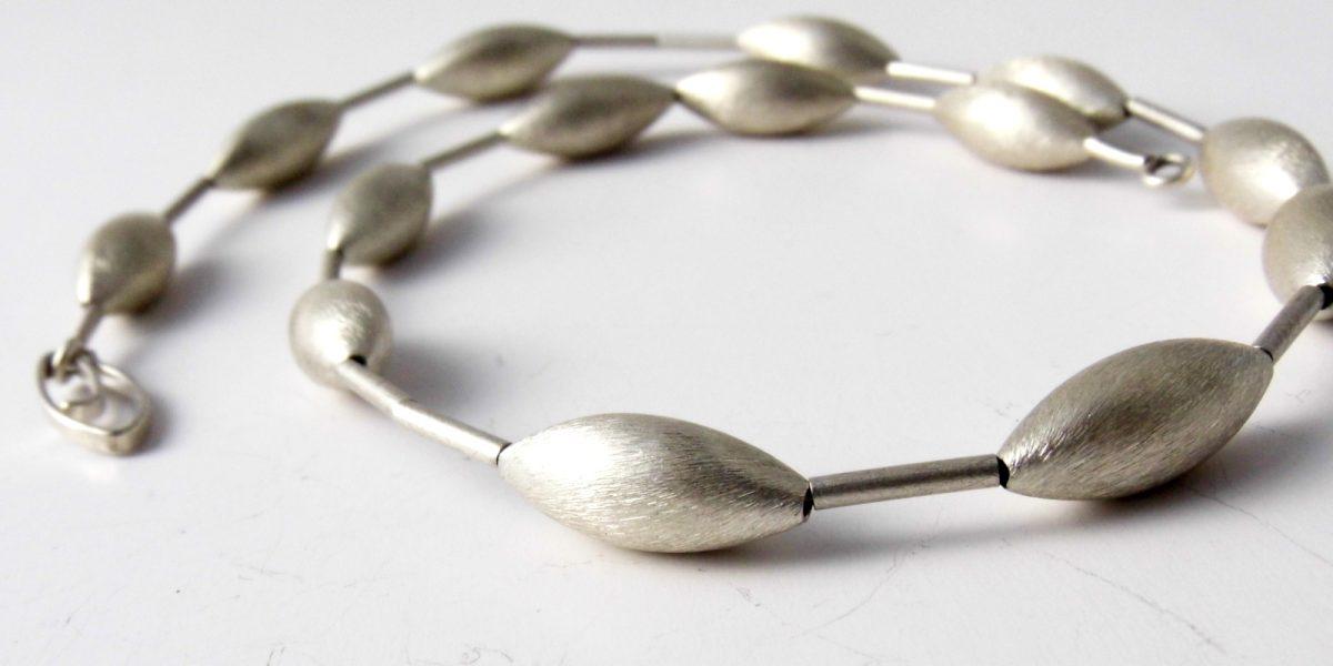 613 Single Cone Necklace Silver