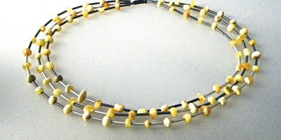 640 - Triple Butterscotch Amber Necklace