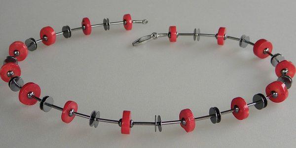674 - Single Coral Necklace