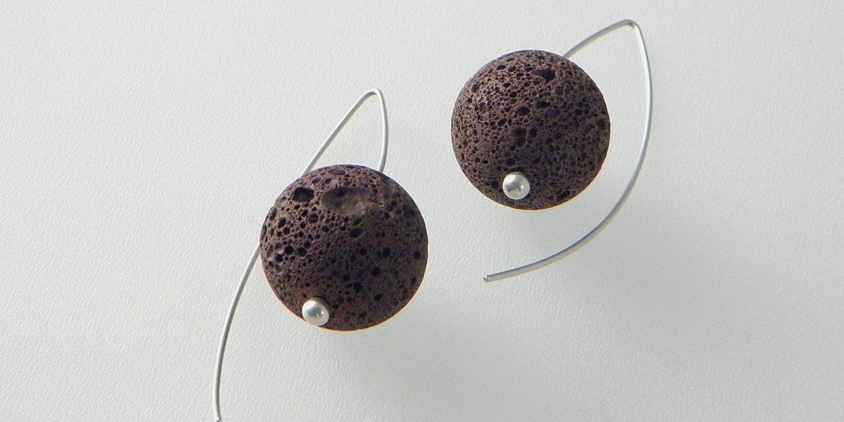 676 - 18mm Lava Earrings