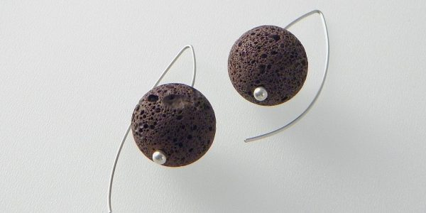 676 - 18mm Lava Earrings