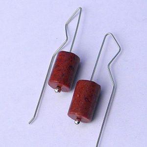 678 Coral Drum Earrings