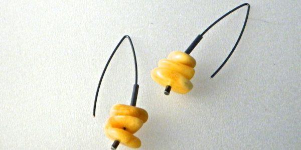 686 - Triple Butterscotch Earrings