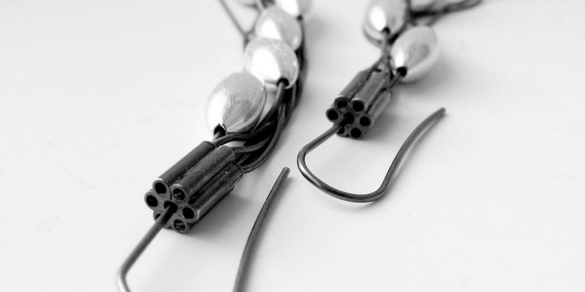 690 Long Multistrand Cone Earrings