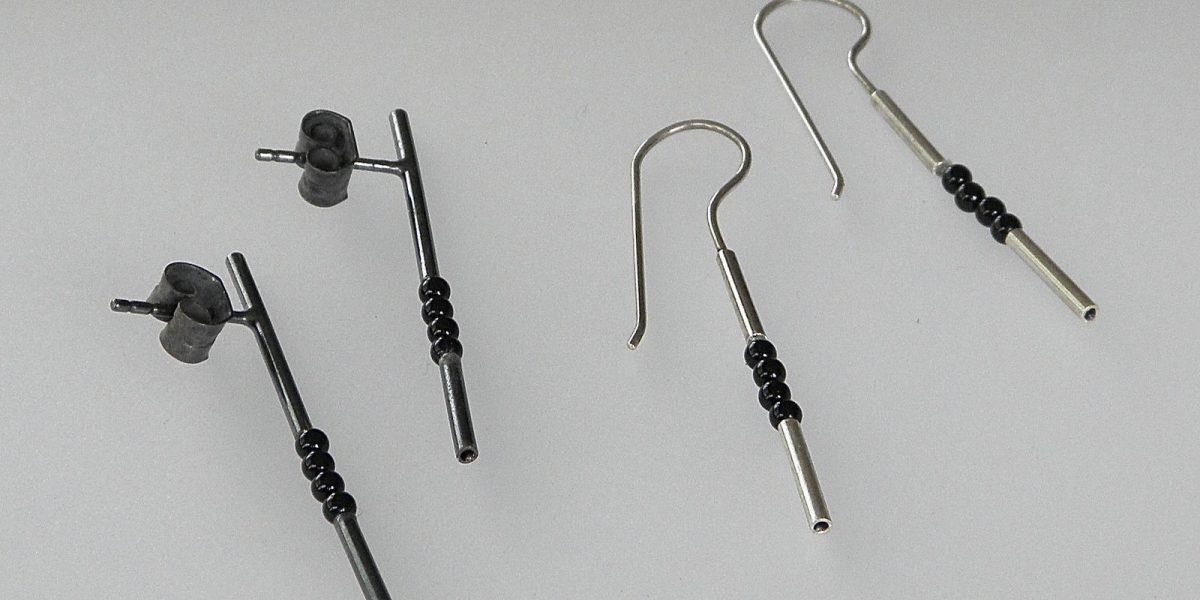 709 - Four Onyx Earrings