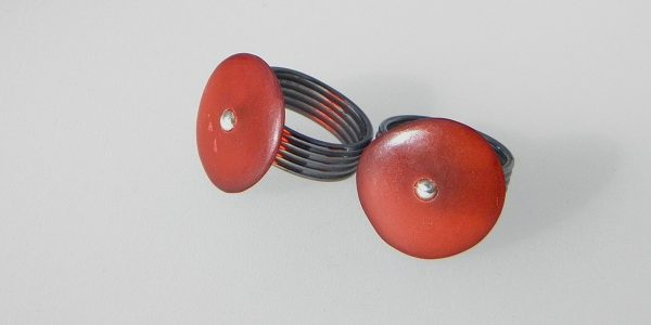 768 - Red Disc Ring
