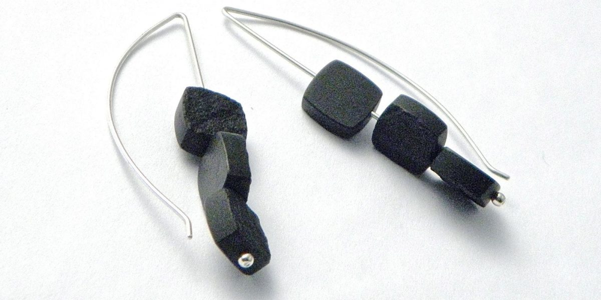 795 - Triple Black Jade Earrings
