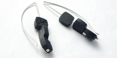 795 - Triple Black Jade Earrings