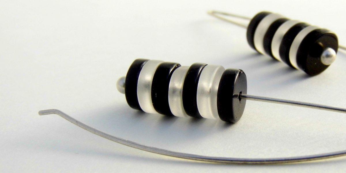 798 Zebra Glass Earrings