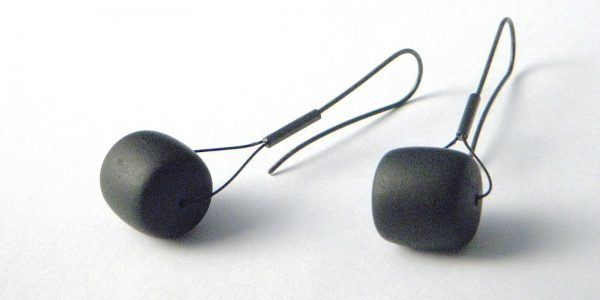 799 - Black Jade Tire Earrings