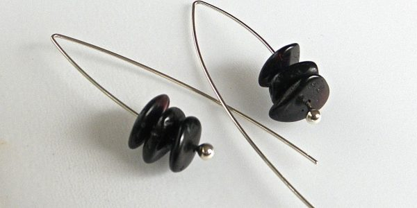 816 - Triple Cognac Amber Earrings