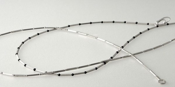 820 - Square Tube With Onyx Necklace