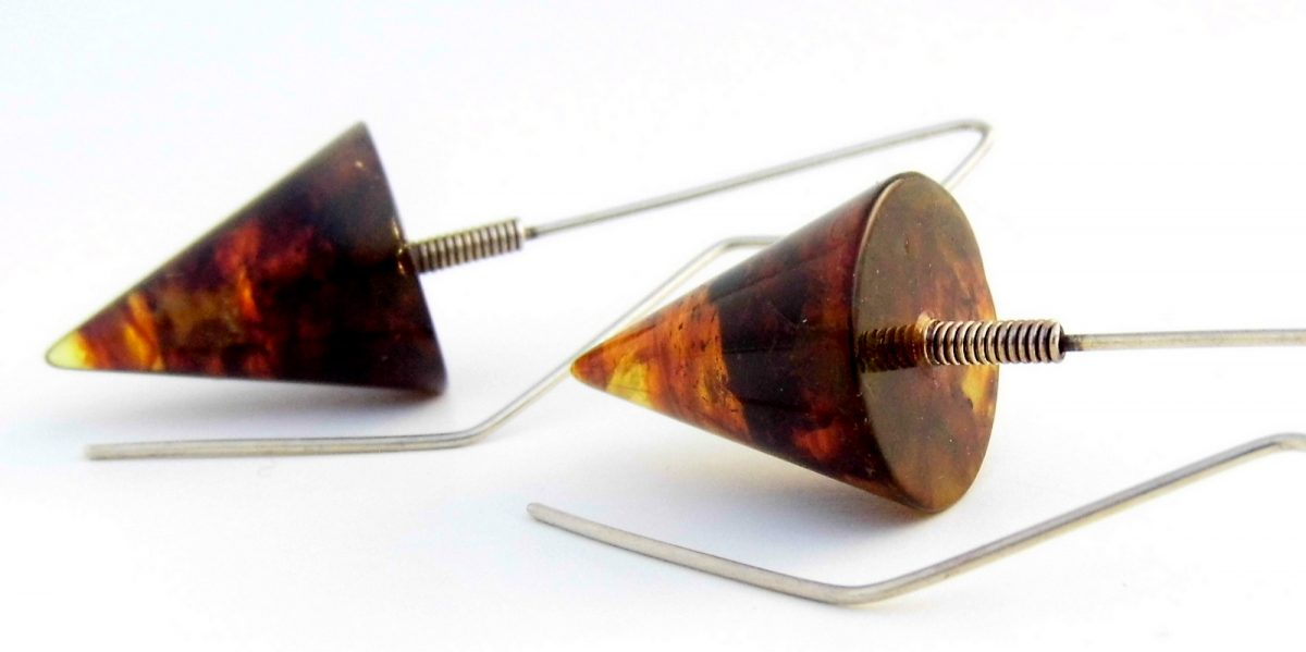 825 Amber Cone Earrings