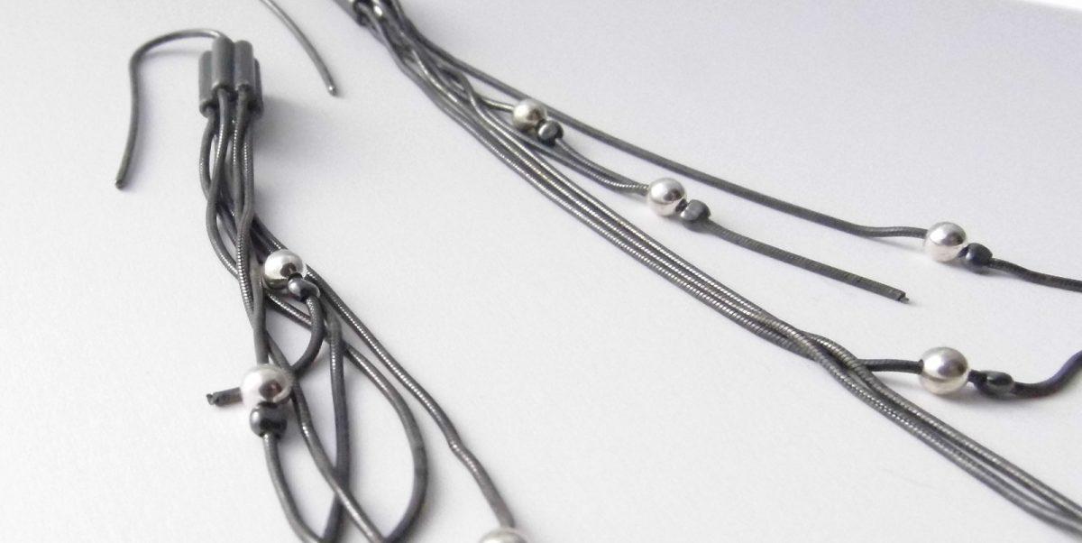831 Multi Strand Long Earrings
