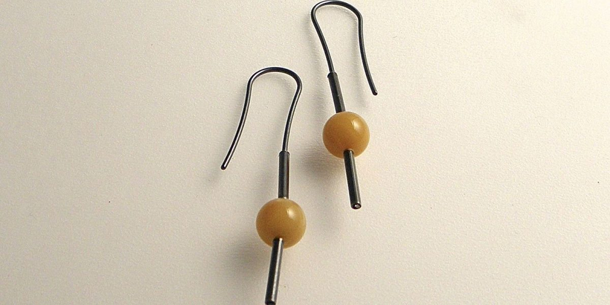 839 - Old Amber Earrings