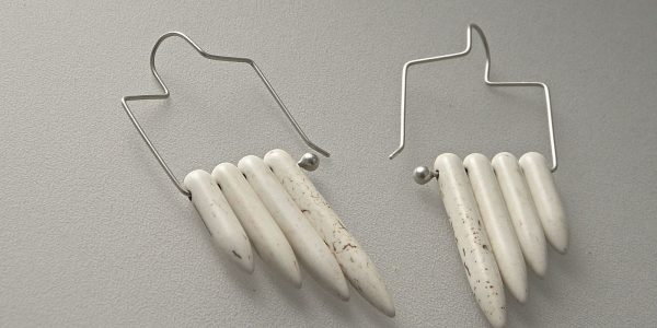 843 - White Magnesite Earrings