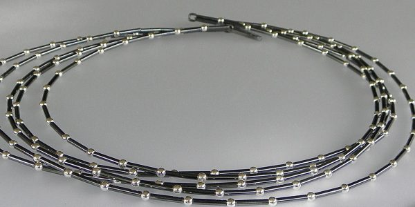 850 - Five  Strand Ball Necklace