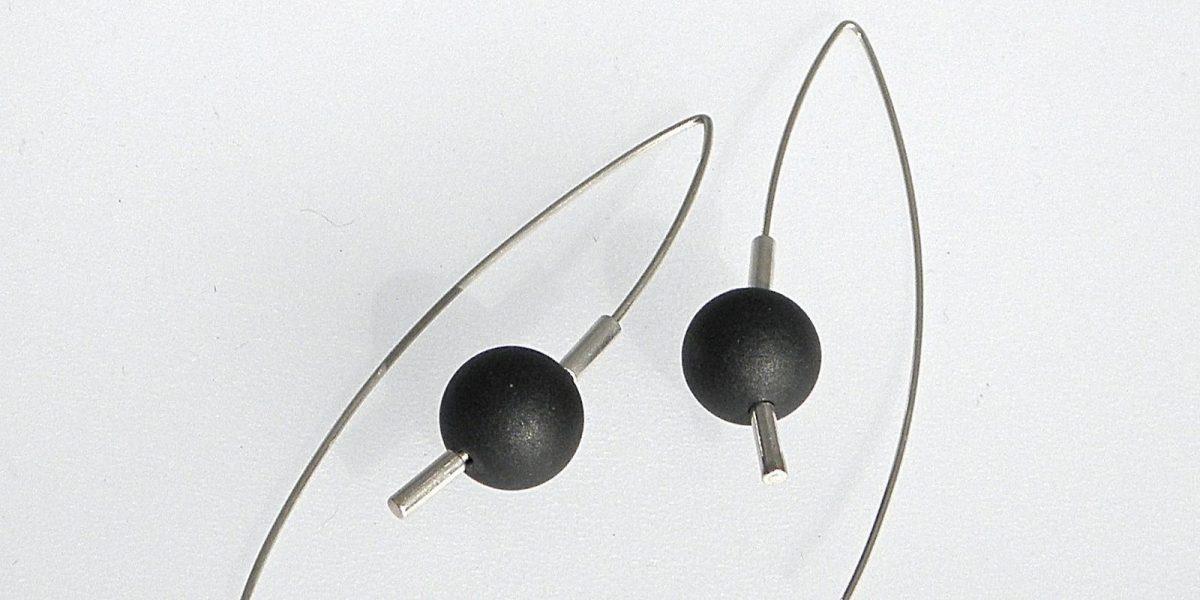 851 - Black Jade Earrings