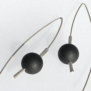 851 Black Jade Earrings