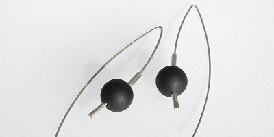 851 - Black Jade Earrings