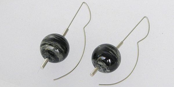 858 - Jasper Ball Earrings