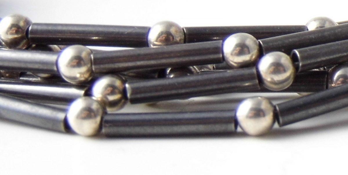 859 Tube and Ball Linked Bracelet