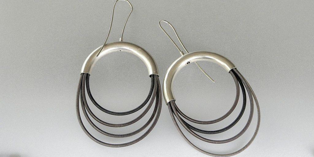 861 - Silver Spiral Earrings
