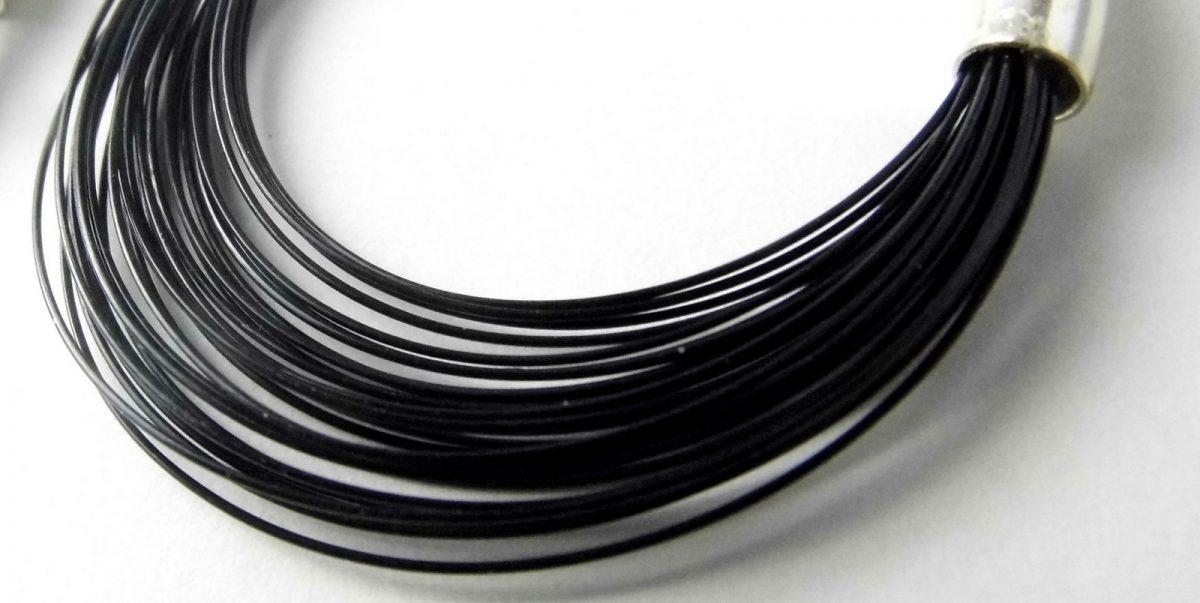 862 Sleek Wire Earrings Black