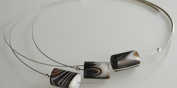865 - Triple Agate Necklace