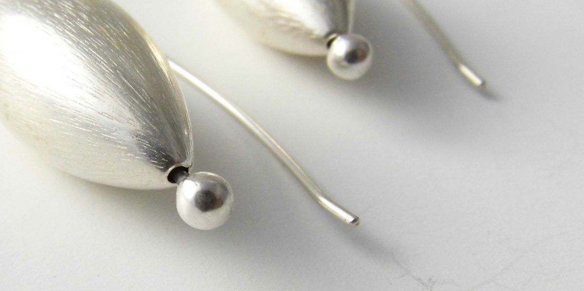 883 Large Silver Cone Earrings