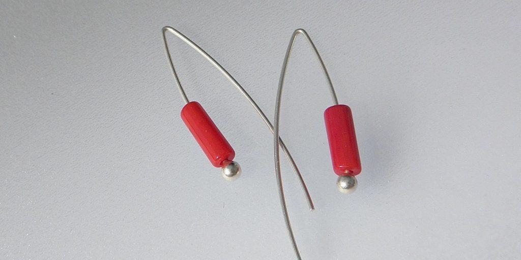884 - Long Coral Earrings