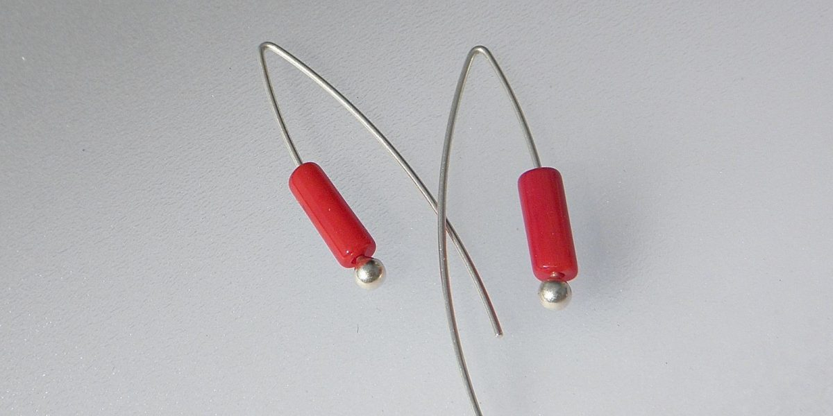 884 - Long Coral Earrings