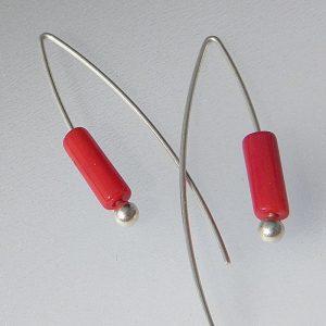 884 Lengthy Coral Earrings