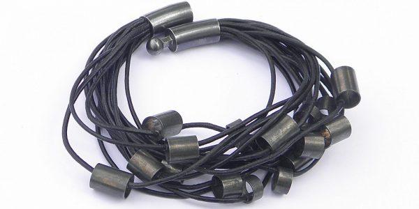 887 large tubes on leader bracelet