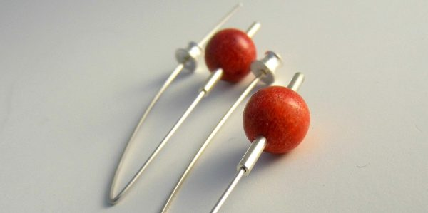 896 10mm Coral Earrings