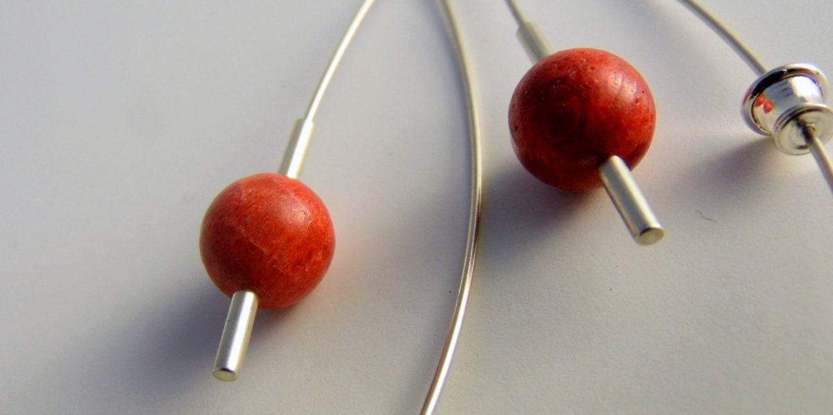 896 10mm Coral Earrings