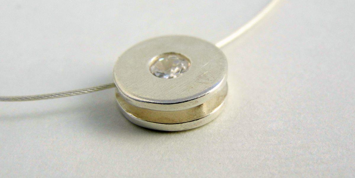 897 CZ Cubic Zirconia Pendant Silver