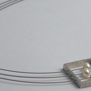 903 Framed Triple Pearl Necklace
