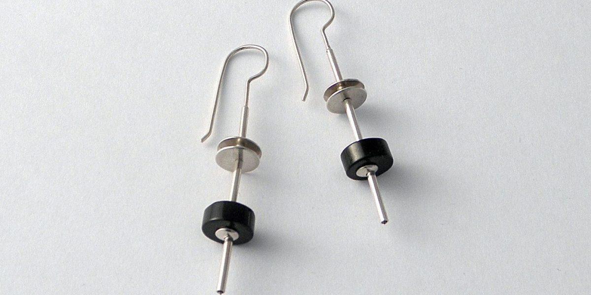 905 - Black Jade Earrings